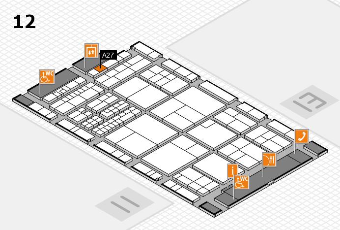 interpack 2017 Hallenplan (Halle 12): Stand A27