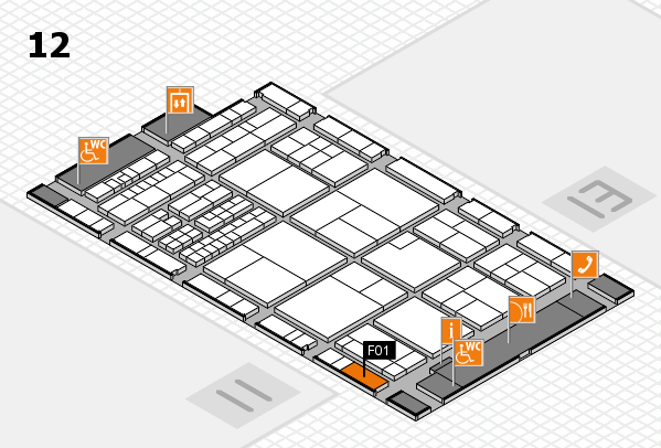 interpack 2017 hall map (Hall 12): stand F01