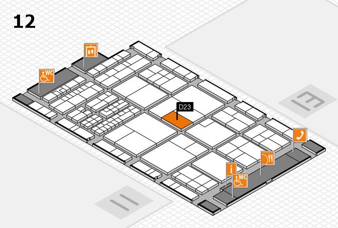 interpack 2017 Hallenplan (Halle 12): Stand D23