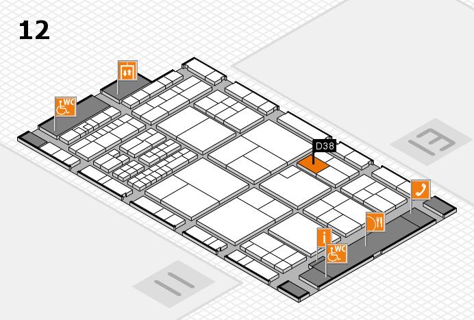 interpack 2017 Hallenplan (Halle 12): Stand D38