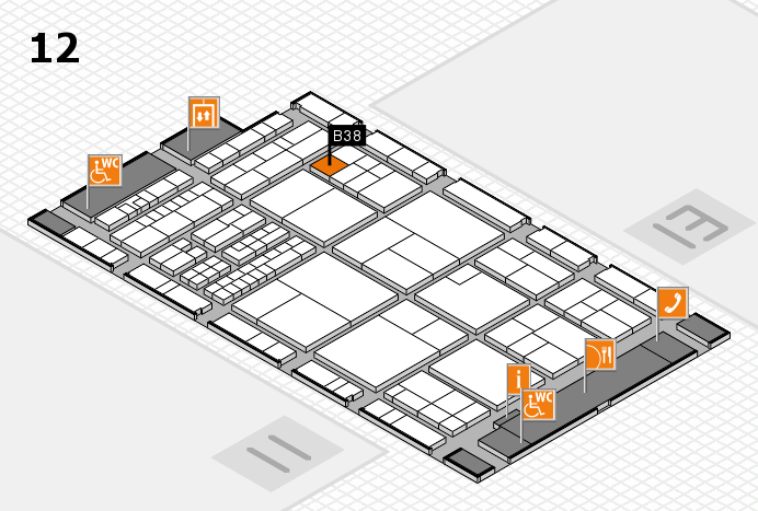 interpack 2017 hall map (Hall 12): stand B38