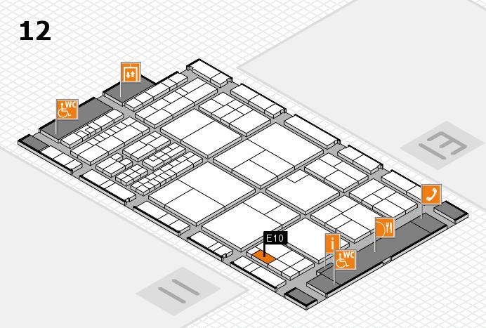 interpack 2017 Hallenplan (Halle 12): Stand E10