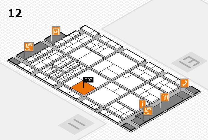 interpack 2017 Hallenplan (Halle 12): Stand D07