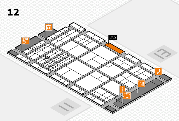interpack 2017 hall map (Hall 12): stand C52