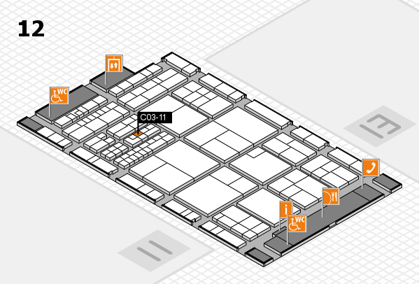 interpack 2017 hall map (Hall 12): stand C03-11