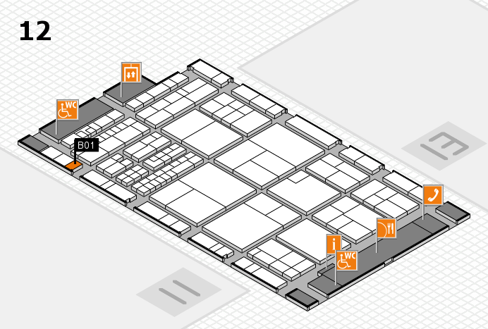 interpack 2017 hall map (Hall 12): stand B01