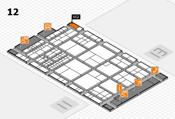 interpack 2017 hall map (Hall 12): stand A52