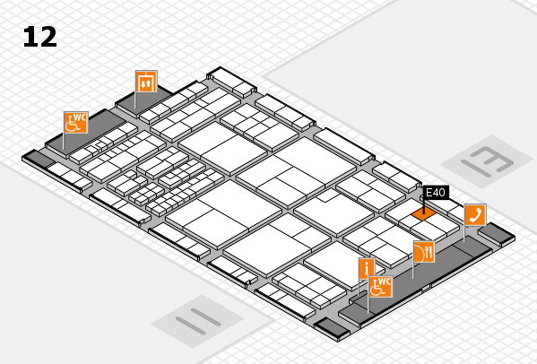 interpack 2017 Hallenplan (Halle 12): Stand E40