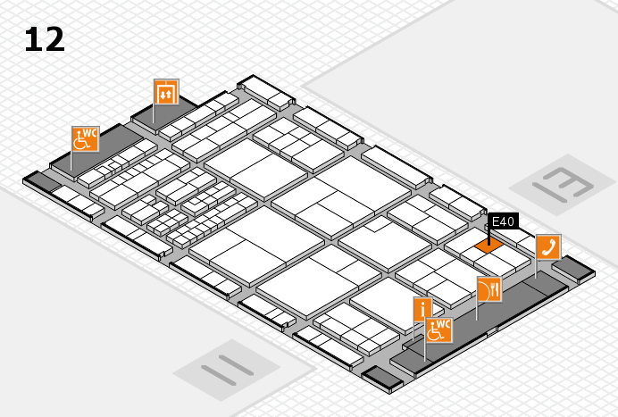 interpack 2017 hall map (Hall 12): stand E40