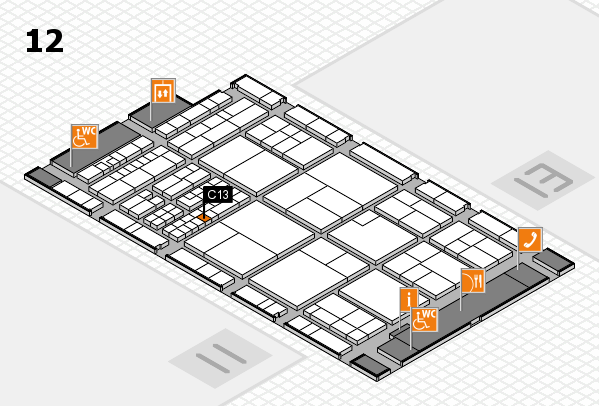 interpack 2017 hall map (Hall 12): stand C13