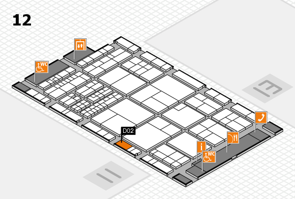 interpack 2017 hall map (Hall 12): stand D02