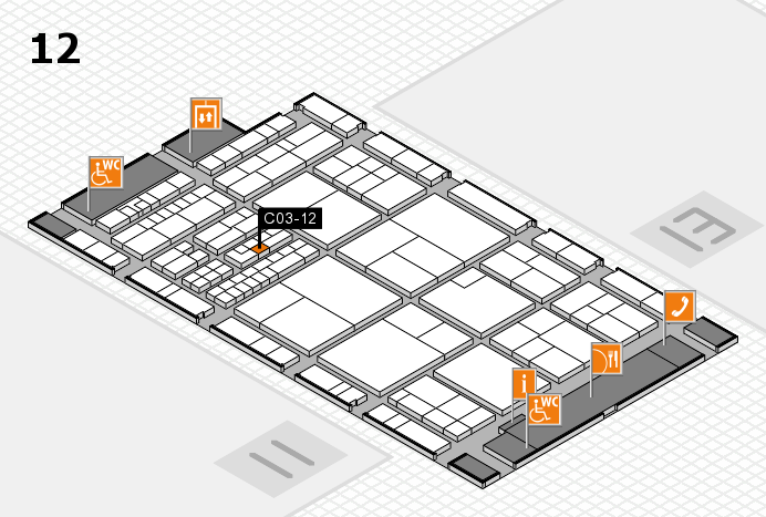 interpack 2017 hall map (Hall 12): stand C03-12