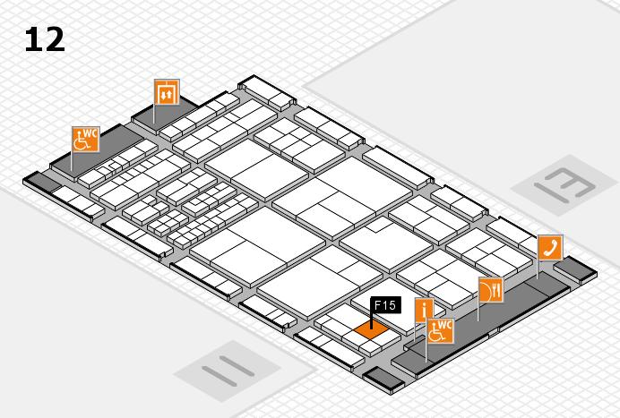 interpack 2017 Hallenplan (Halle 12): Stand F15