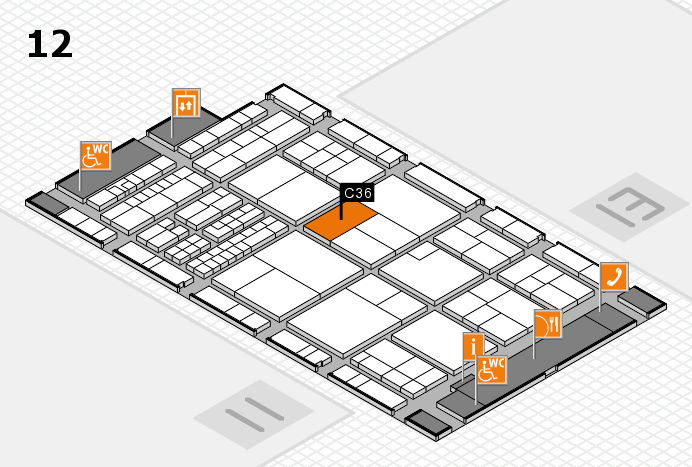 interpack 2017 hall map (Hall 12): stand C36