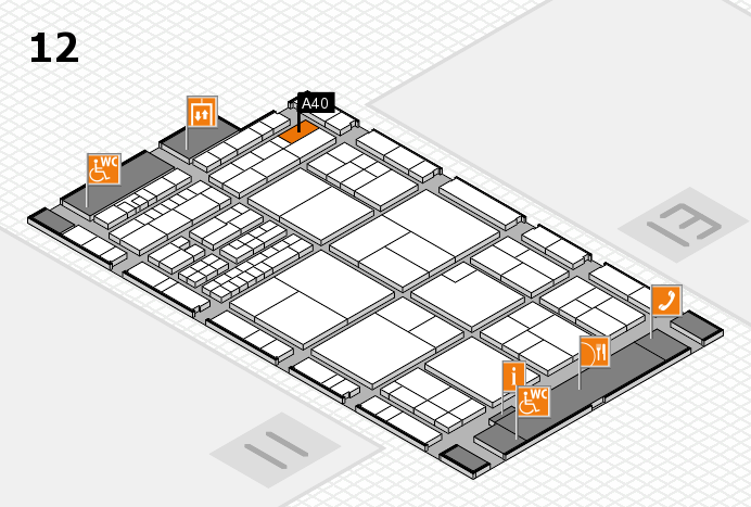 interpack 2017 hall map (Hall 12): stand A40