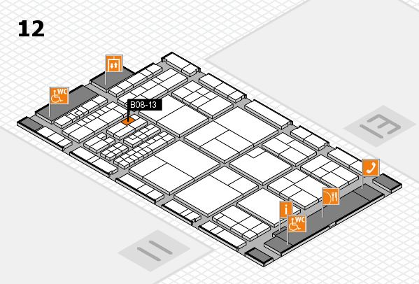 interpack 2017 hall map (Hall 12): stand B08-13
