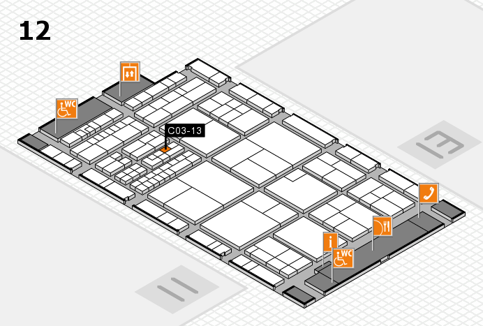 interpack 2017 hall map (Hall 12): stand C03-13