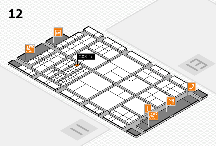 interpack 2017 Hallenplan (Halle 12): Stand C03-15