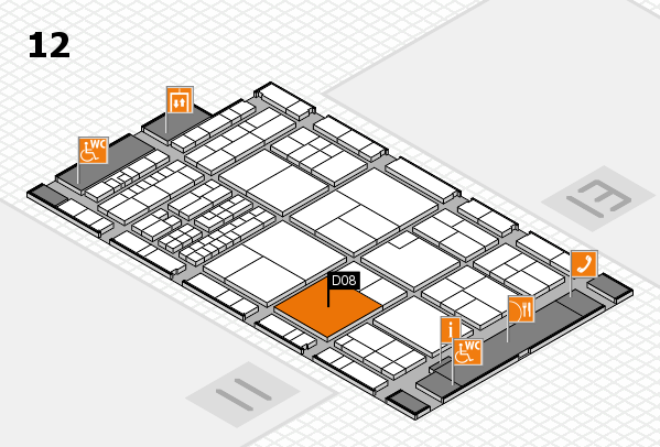 interpack 2017 hall map (Hall 12): stand D08