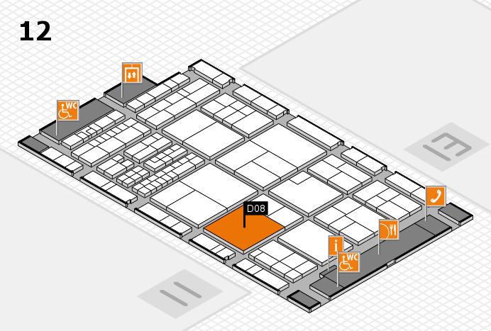 interpack 2017 Hallenplan (Halle 12): Stand D08