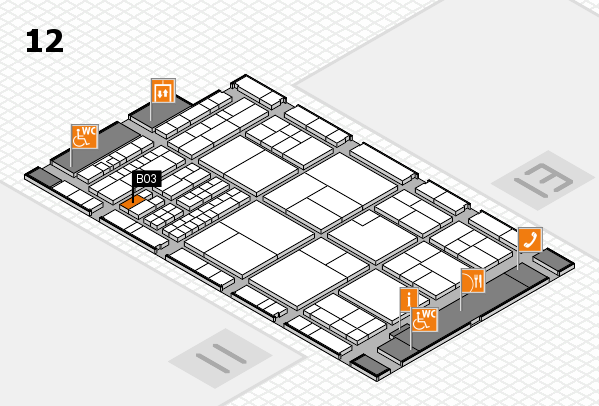 interpack 2017 hall map (Hall 12): stand B03