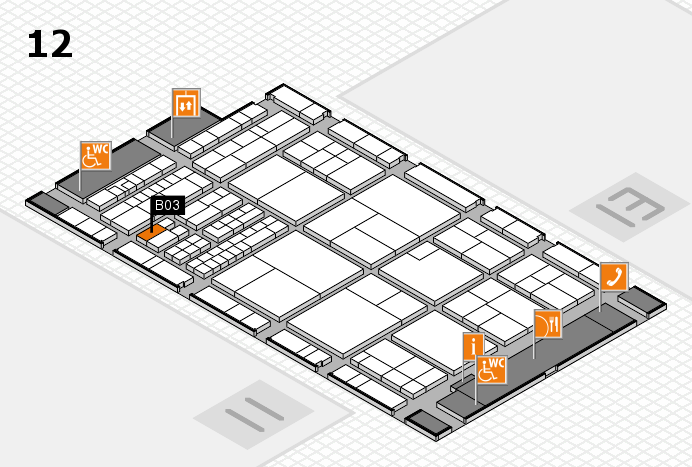interpack 2017 Hallenplan (Halle 12): Stand B03
