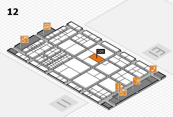 interpack 2017 Hallenplan (Halle 12): Stand D26