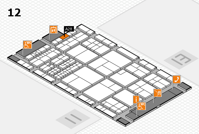interpack 2017 hall map (Hall 12): stand A28