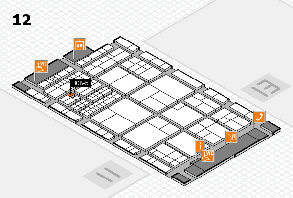 interpack 2017 hall map (Hall 12): stand B08-5