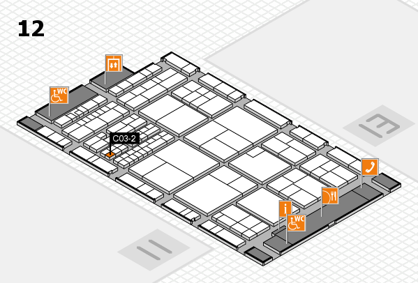 interpack 2017 hall map (Hall 12): stand C03-2