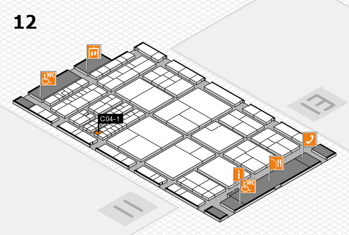 interpack 2017 Hallenplan (Halle 12): Stand C04-1