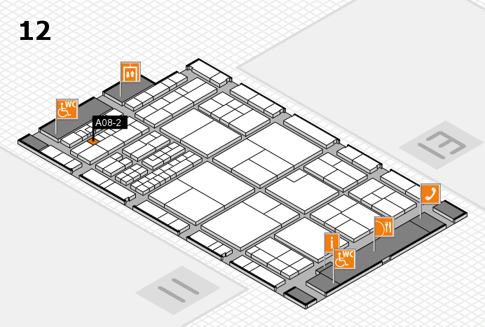 interpack 2017 hall map (Hall 12): stand A08-2