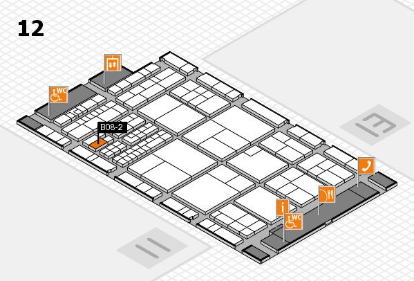 interpack 2017 Hallenplan (Halle 12): Stand B08-2