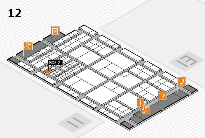 interpack 2017 hall map (Hall 12): stand B08-2