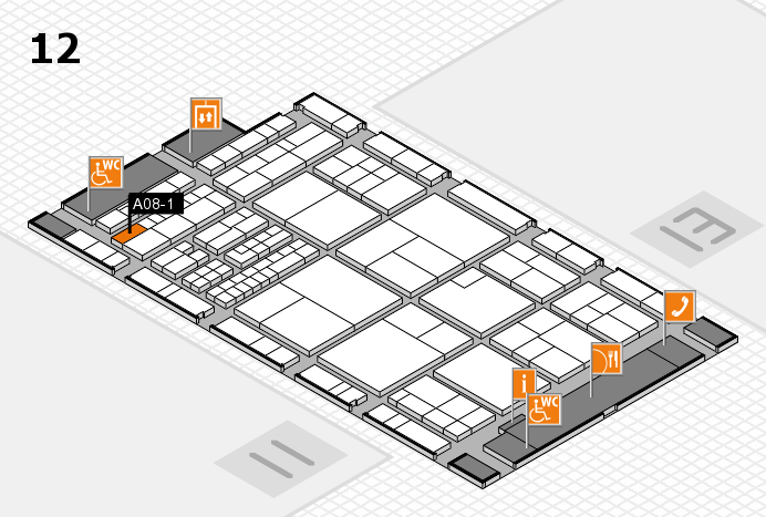 interpack 2017 hall map (Hall 12): stand A08-1