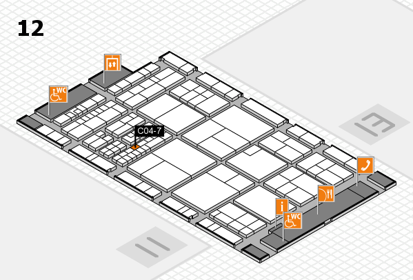 interpack 2017 hall map (Hall 12): stand C04-7