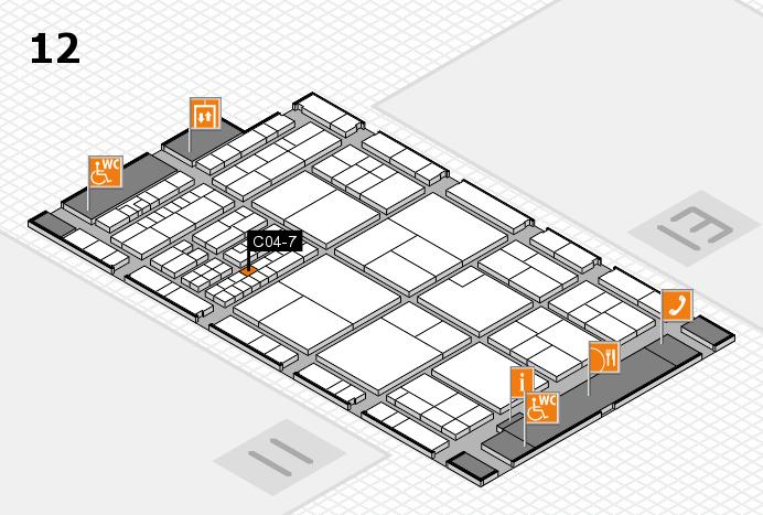 interpack 2017 Hallenplan (Halle 12): Stand C04-7