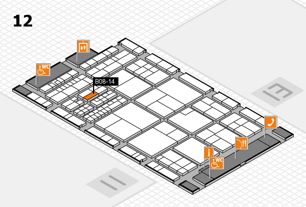 interpack 2017 hall map (Hall 12): stand B08-14