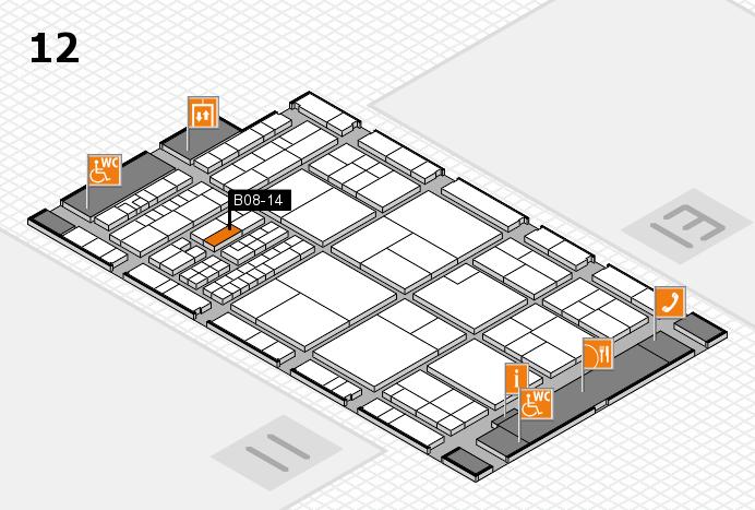 interpack 2017 Hallenplan (Halle 12): Stand B08-14