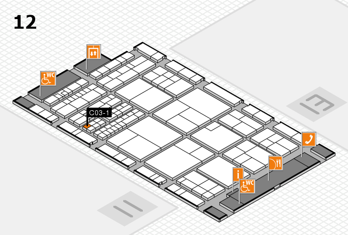 interpack 2017 hall map (Hall 12): stand C03-1