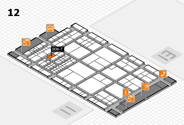 interpack 2017 Hallenplan (Halle 12): Stand B08-7