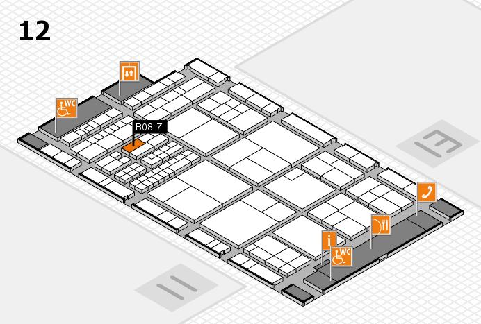 interpack 2017 hall map (Hall 12): stand B08-7