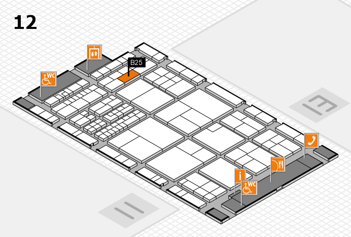 interpack 2017 hall map (Hall 12): stand B25