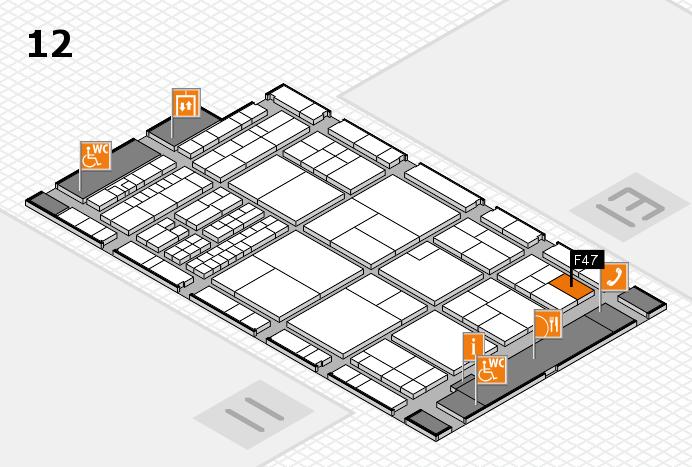 interpack 2017 Hallenplan (Halle 12): Stand F47