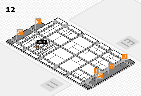 interpack 2017 hall map (Hall 12): stand B08-6
