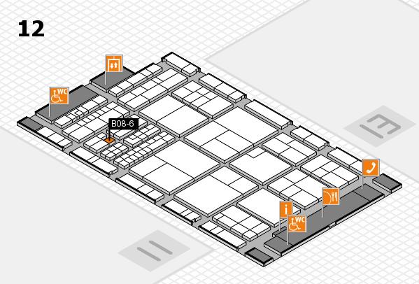 interpack 2017 Hallenplan (Halle 12): Stand B08-6