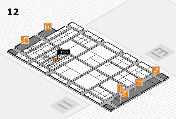 interpack 2017 hall map (Hall 12): stand C03-7