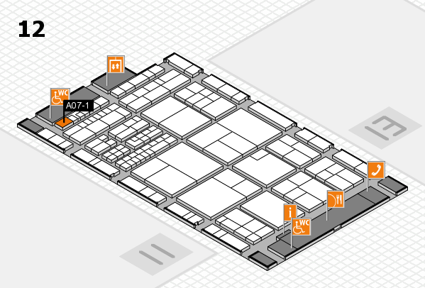 interpack 2017 hall map (Hall 12): stand A07-1