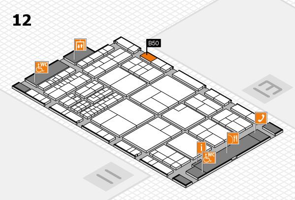 interpack 2017 Hallenplan (Halle 12): Stand B50