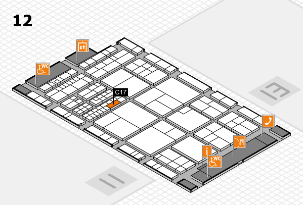 interpack 2017 Hallenplan (Halle 12): Stand C17